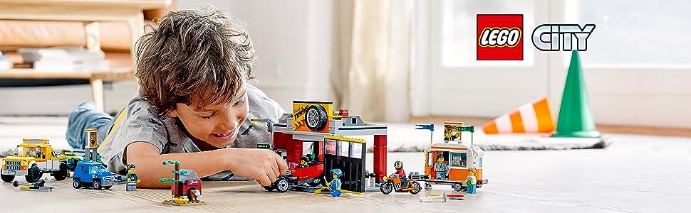 Amazon.com: LEGO City Tuning Workshop Toy Car Garage 60258, Cool ...