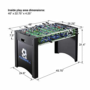 Amazon Com Hathaway Playoff 4 Foosball Table Soccer Game For