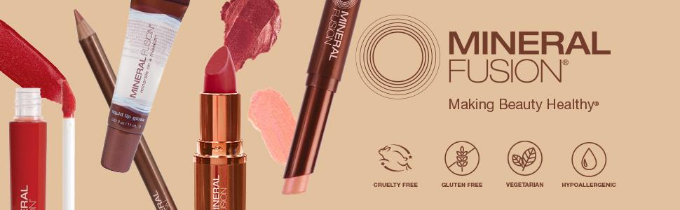 mineral fusion lipstick, lipstick butter, lip gloss, lip liner, natural cosmetics