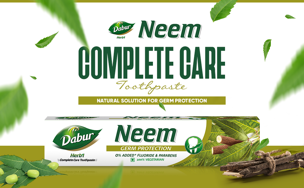 herb'l paste ; ayurvedic toothpaste ; toothpaste ; oral care; dabur herb;l neem toothpaste