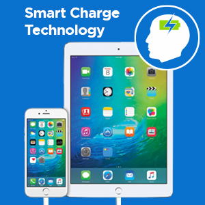Smart Charge Technology ensures that your device stops charging when at full capacity Sure Series