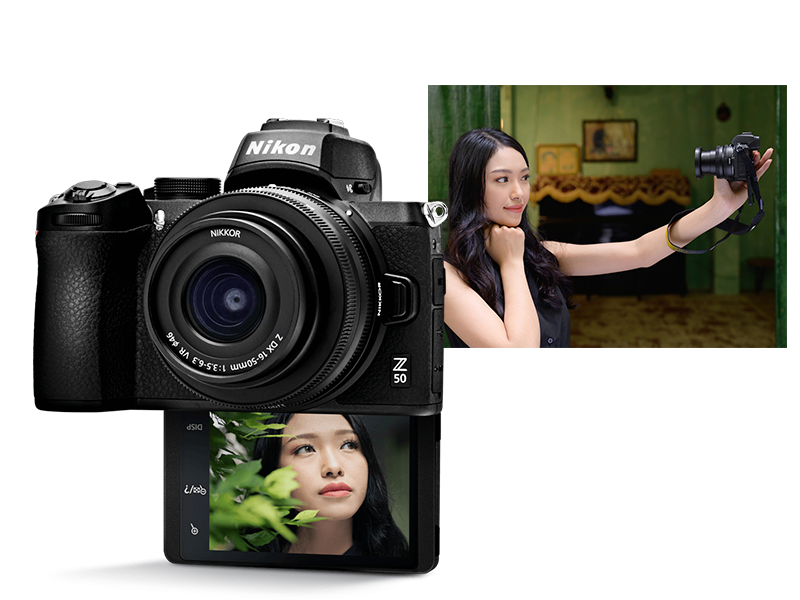 Stop anywhere for a Selfie with the Nikon Z 50 flip able screen