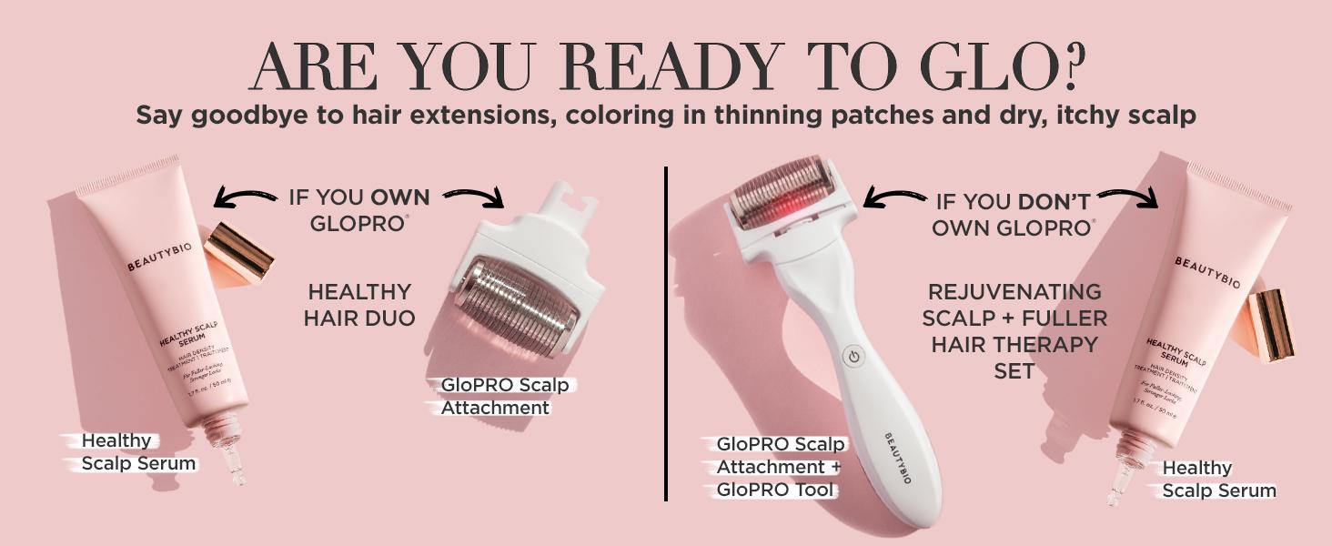 beautybio hair loss regrowth hair growth balding microneedle microneedling beautybio bioscience