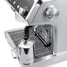 milk frothing jug; coffee machine; delonghi