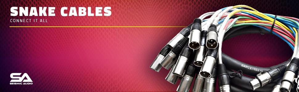 seismic audio, snake, cable, xlr, three pin, 3-pin, pro audio equipment, pro, audio, equipment