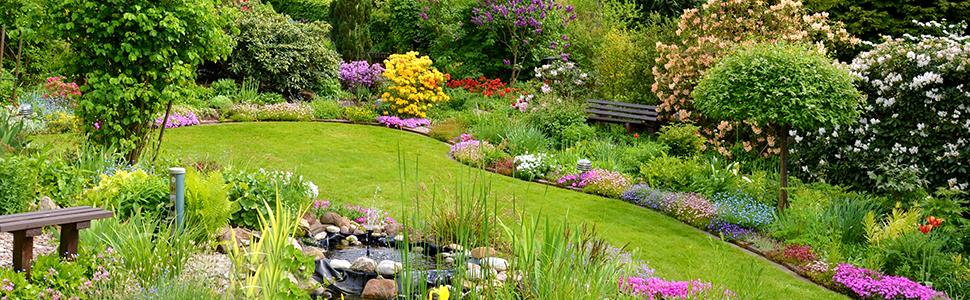 Relaxdays, Blanco Valla de jardín Decorativa, Set de 10 bordillos ...