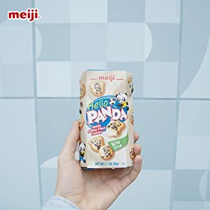 meiji hello panda vanilla cookie crackers with smooth creme filling for kids and families