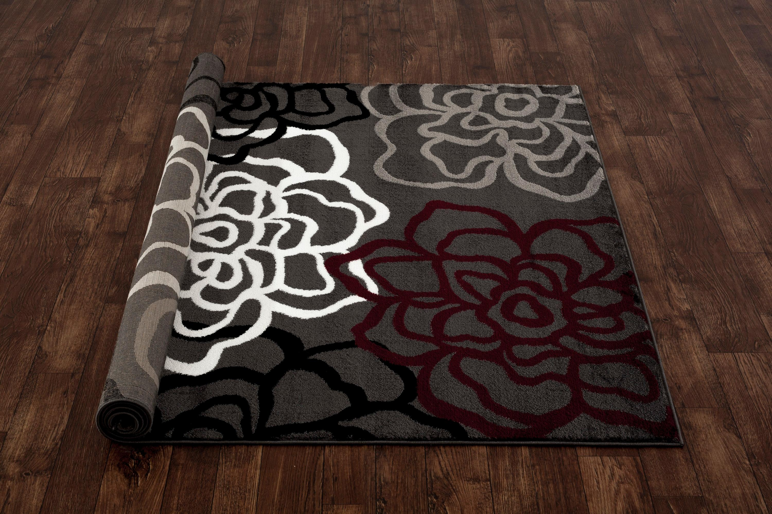Rugshop Contemporary Modern Floral Flowers Area Rug 2 X