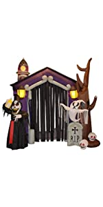 85 foot halloween inflatable haunted house