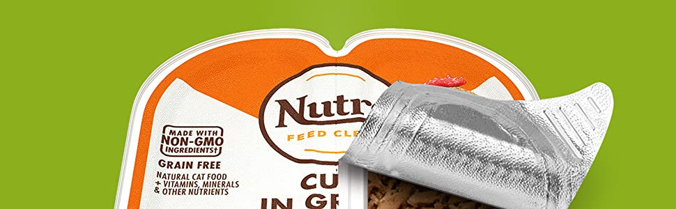 Nutro Feed Clean, Wet, Cat, Food, Tray, Non-GMO, Grain Free, Natural, Vitamins, Minerals, Nutrients,