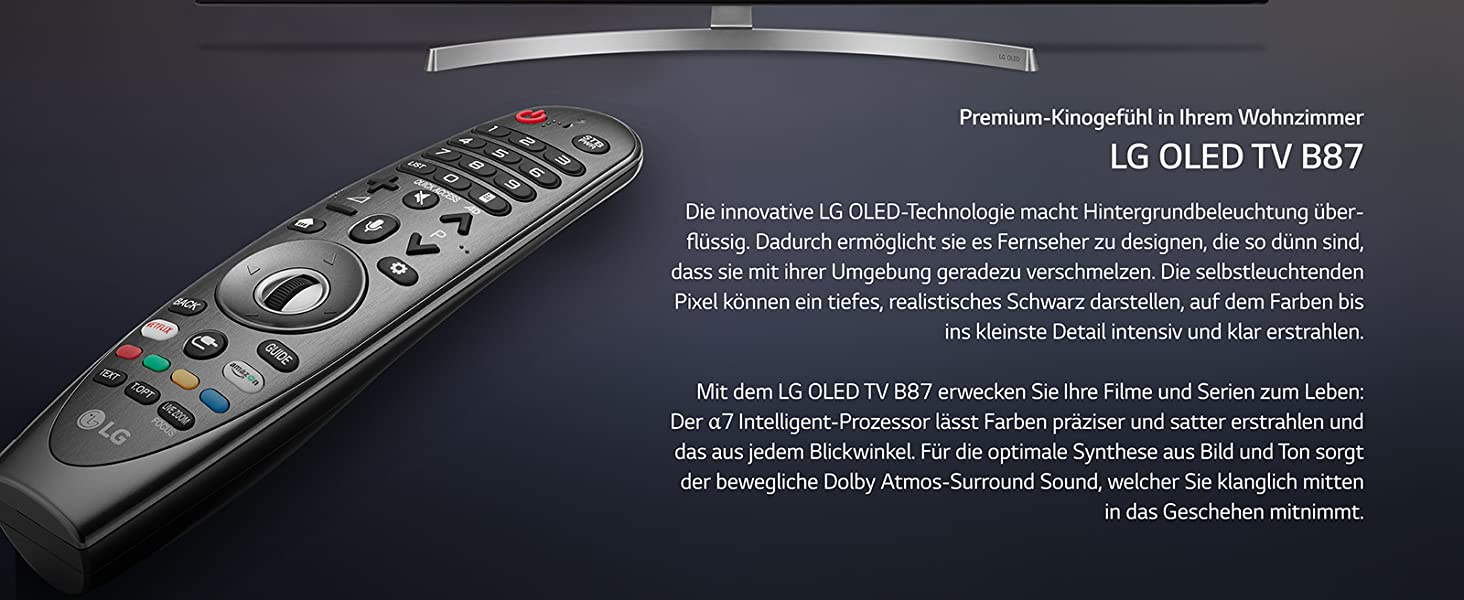 lg b87; OLED TV b87; LG magic remote