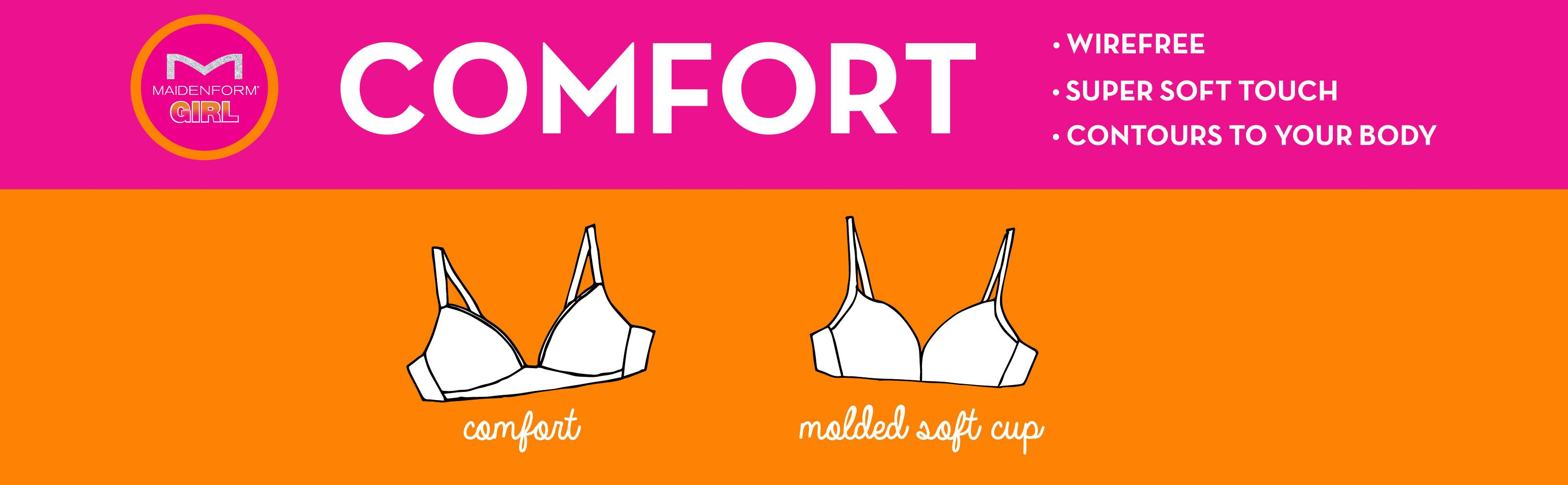 a3b502b9e0 Amazon.com  Maidenform Girl Big Girls  Slim Softi Cup Bra  Clothing