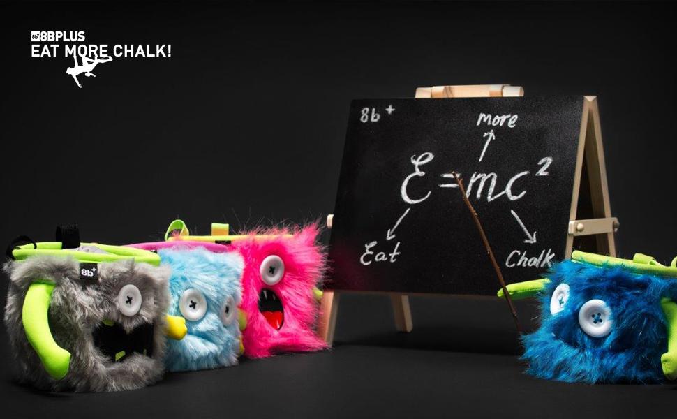 Unisex 8bplus chalk bag 8b+ incl waist belt Moritz Standard bag and carabiner Adult