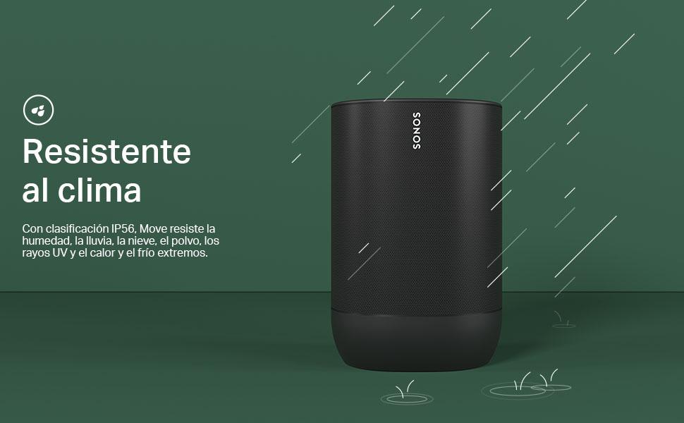 Sonos Move, Sonos, Resistente al clima