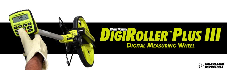 DigiRoller Plus III Rueda de medici/ón digital WheelMaster antalla grande Digital retroiluminada de 12,5 pulgadas; Medida en pies Calculated Industries pulgadas metros