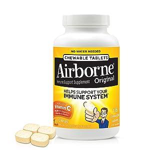 Amazon Com Airborne Citrus Chewable Tablets 116 Count