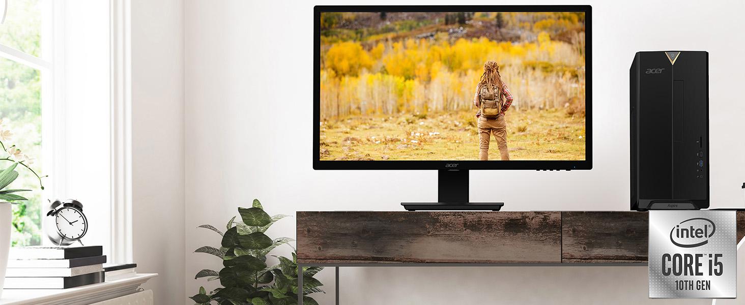 Amazon Choice Acer TC-895 10th Generation Core i5-10400 Desktop WiFi 6 SSD USB 3.2