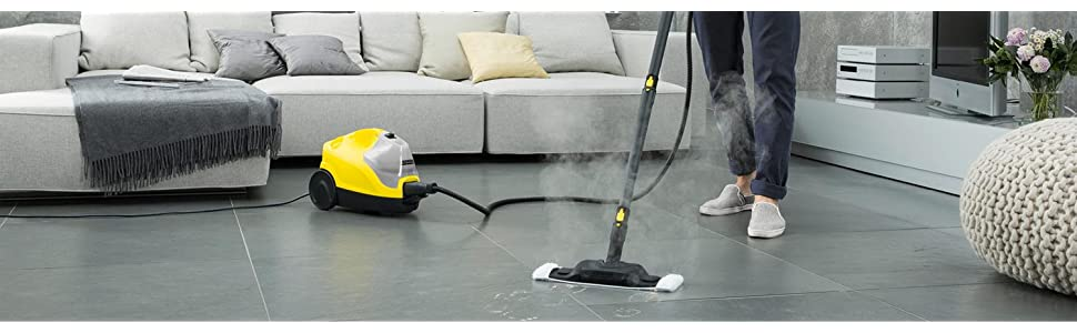 Karcher, Kärcher, SC, 4, limpiador, vapor, vaporeta, limpieza, hogar, suelos