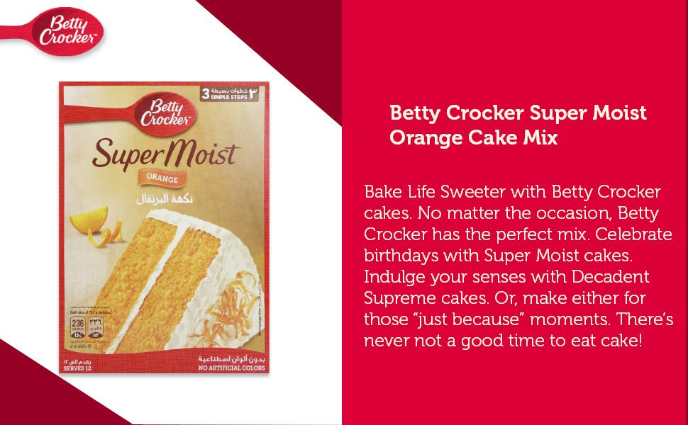 Betty Crocker Super Moist Orange Cake Mix