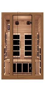 infrared sauna home sauna cheap sauna low EMF hemlock wood