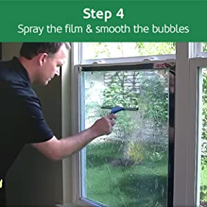 Spray and smooth the film