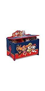 Delta Children Deluxe Toy Box, Paw Patrol
