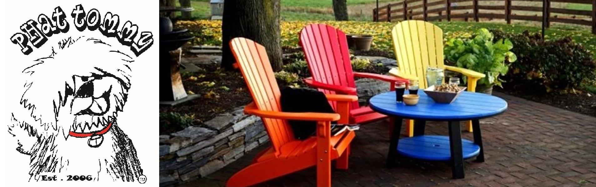amazon com phat tommy recycled poly resin folding adirondack chair