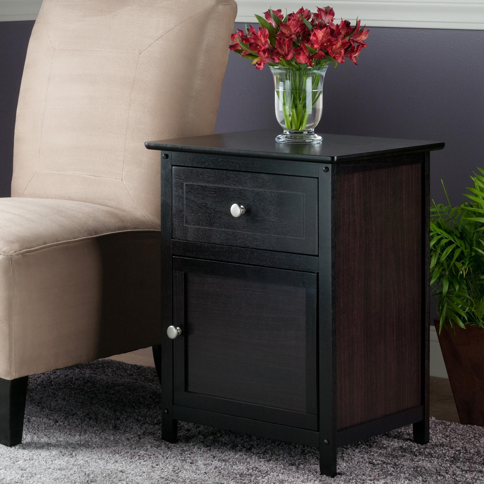 Winsome Wood Beechwood End Accent Table Espresso Kitchen Dining