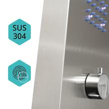 Elbe Columna de ducha termostática en acero inoxidable 304, Panel ...