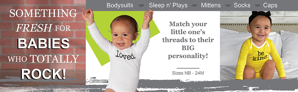 Something fresh for babies who totally rock!