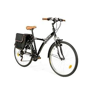 Moma Bikes Híbrida Shimano. Aluminio, 18 Velocidades, Ruedas de 26 ...