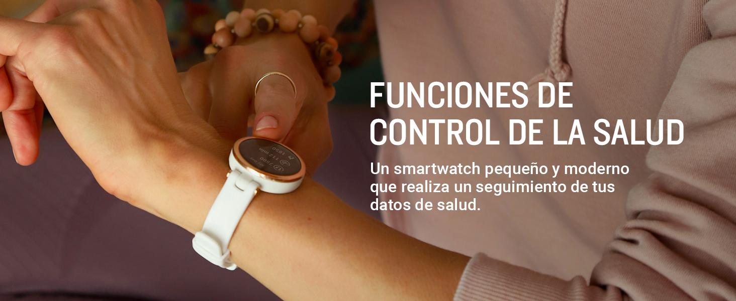 Un smartwatch pequeño y elegante