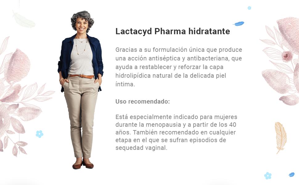 Lactacyd Pharma Hidratante - Protege y mejora la hidratación intima diaria, enriquecido con complejo hidratante L2G, óptimo para contra la sequedad ...
