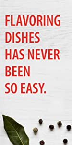 Flavoring dishes has never been so easy.