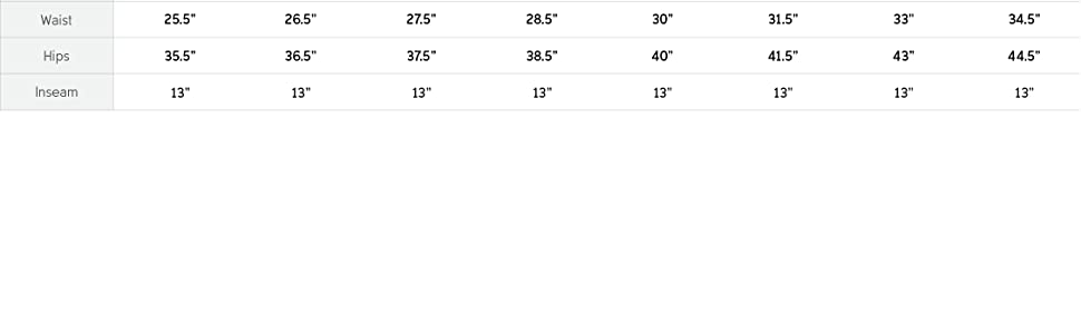 Women's pant size and fit guide