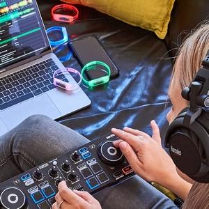 Hercules DJ Party Set: Controladora de DJ USB de 2 decks DJControl ...