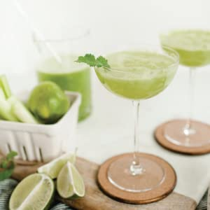 Celery, Cucumber, and Lime Tonic Mocktail