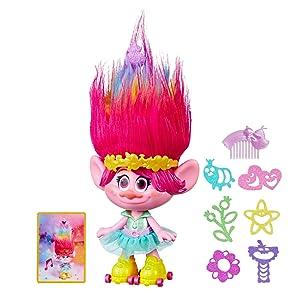 Amazon.es: Trolls - Poppy Peinados Multicolores (Hasbro