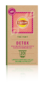 Lipton Thé Vert Detox 10 Capsules