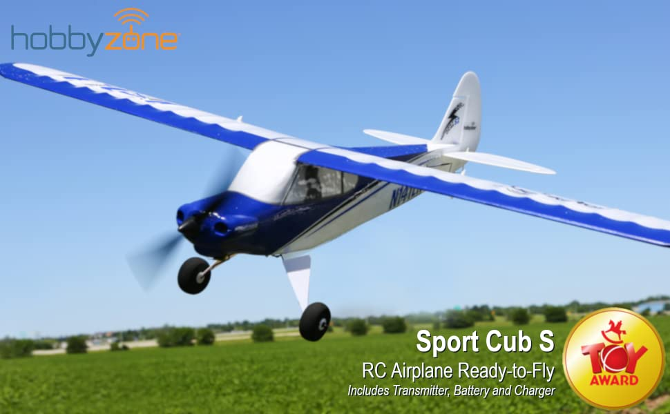HobbyZone's award-winning RC airplane Sport Cub S ready to fly includes everything you need,