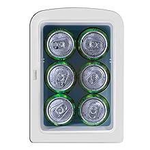 cool gifts college cosmetic soda mirror desktop organizer light