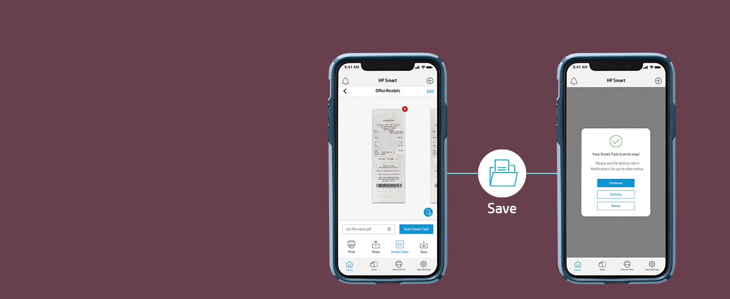 use shortcut scan receipt autosave expenses