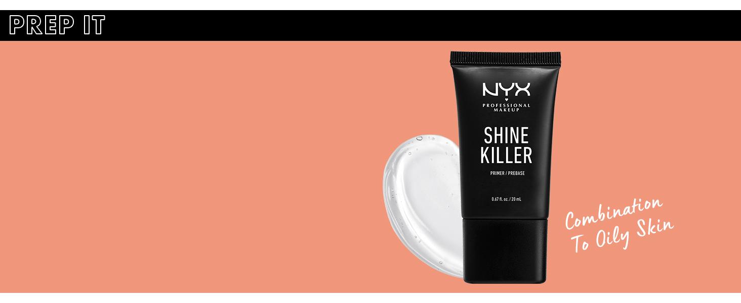 nyx shine killer face primer matte