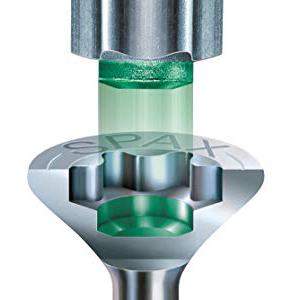 4,5 x 40 mm SPAX Universalschraube aus Edelstahl rostfrei A2 Teilgewinde 4CUT 1087000450403 200 St/ück Kreuzschlitz Z2 Senkkopf