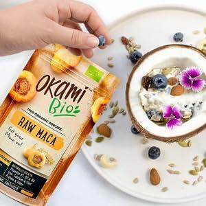 Okami Bio | Maca Cruda En Polvo | Energizante Natural | Naturalmente rico en Vitaminas B1, B2 & B6 | 200gr.