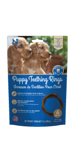 peanut butter puppy teething ring