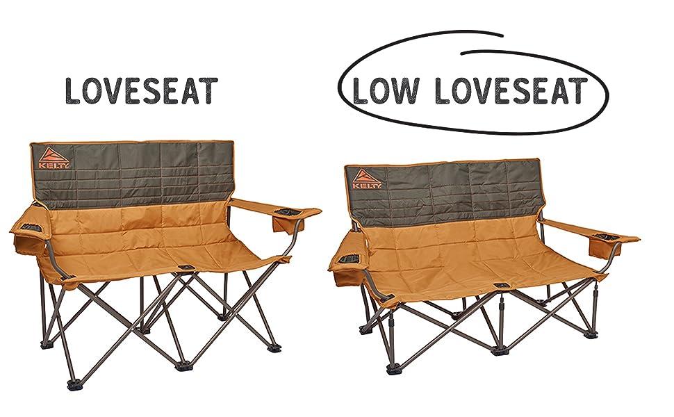 low loveseat circled