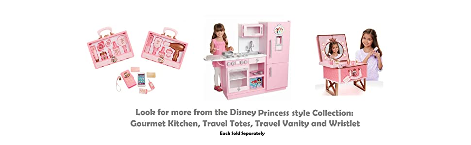 Amazon Com Disney Princess Style Collection Travel Vanity Playset