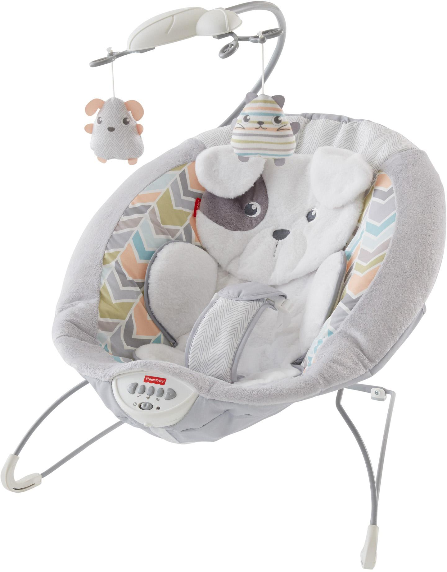 Amazon.com : Fisher-Price My Little Snugapuppy Deluxe Bouncer, White : Baby