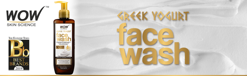 WOW SKIN SCIENCE GREEK YOGHURT FACE WASH - NO PARABENS, SULPHATE, SILICONES & COLOR